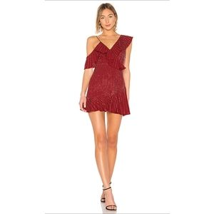 Lovers + Friends Red Embellished Dress
